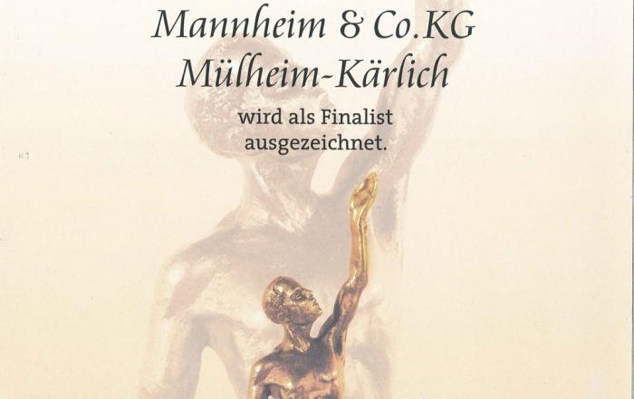 """KTS ist ein Finalist des Jahres 2015 im Wettbewerb """"Großer Preis des Mittelstands"""" der Oskar-Patzelt-Siftung"""