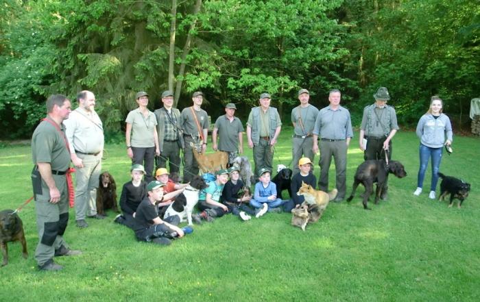 Jagderlebnistag für Kinder und Eltern im Eigenjagdbezirk von KTS am 21. Mai 2016